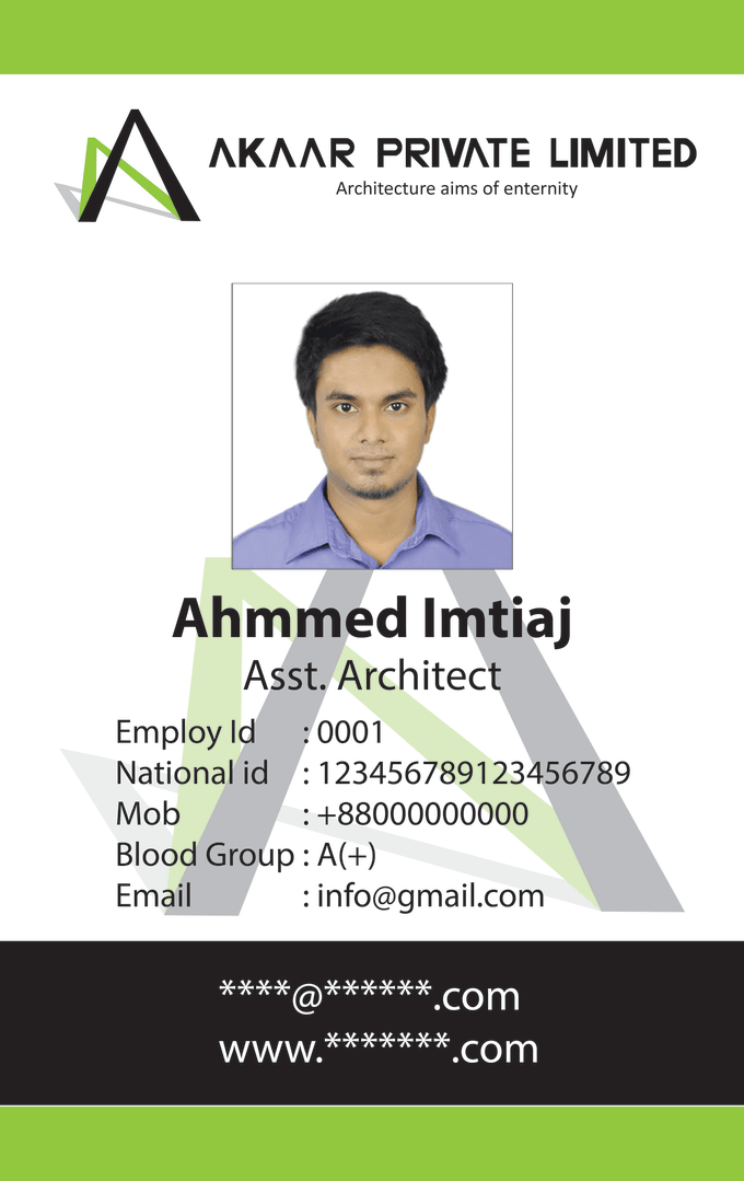 Design Your Corporate And Students Id Card By Ahmmedis