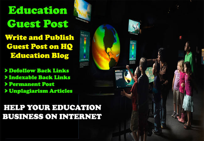 Write guest post on education blog permanent dofollow da45
