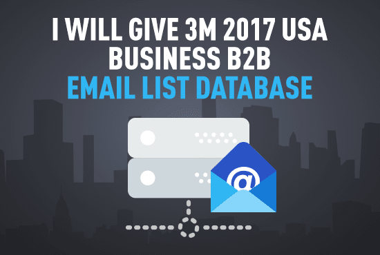give 5million USA business b2b email lists