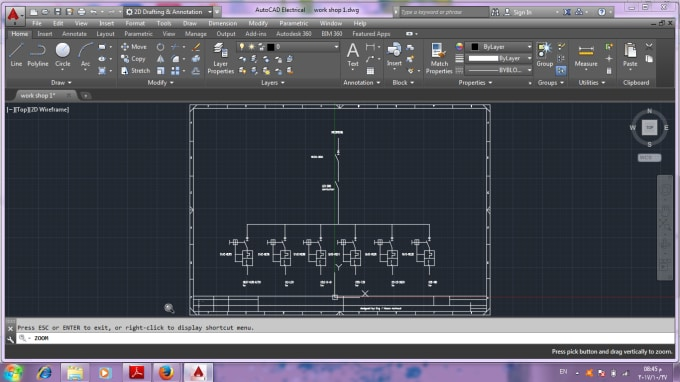 Make electrical drawings using autocad by Hosam_mahmoud