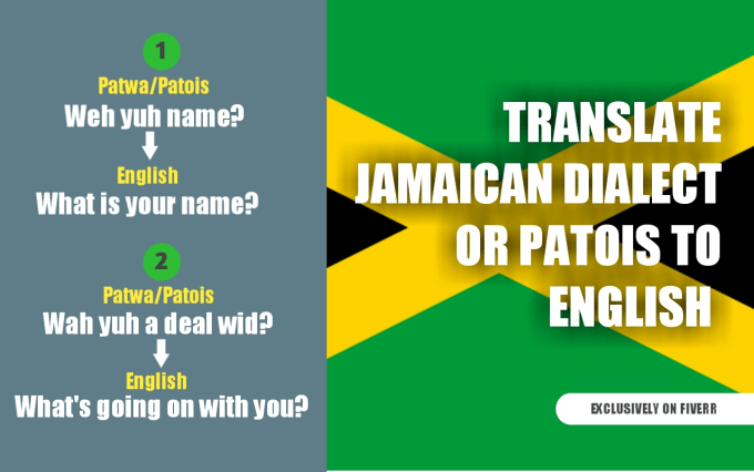 Translate Jamaican Patois To English By Niconorbrown