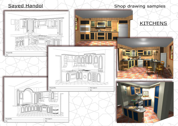 Draw Your Kitchen Cabinets Built In Furniture By Auto Cad