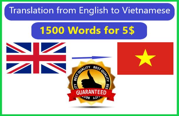 do high quality english to vietnamese translation