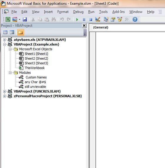 make your excel vba project unviewable