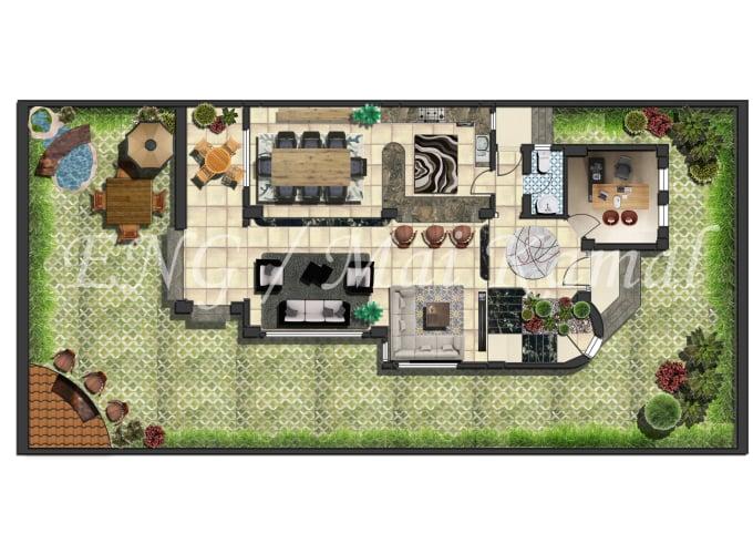 photoshop your 2d floor plans