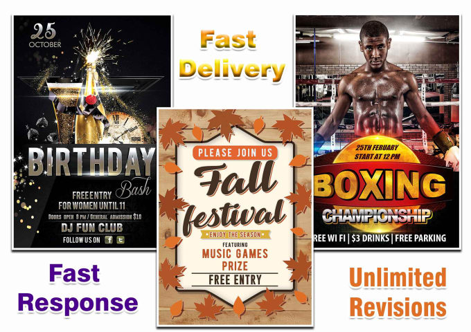 create unique and professional event flyer by graphicsmania44
