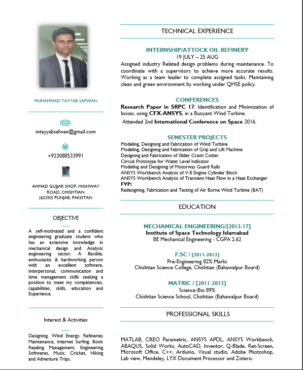 design and format a best template of resume, CV and cover letter with  efficient