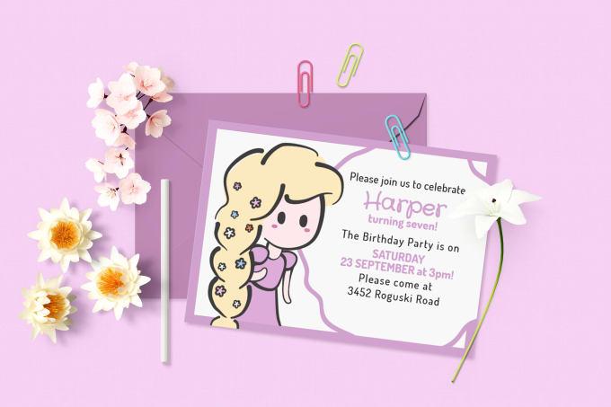 Design A Disney Princess Themed Invitation By Veramc