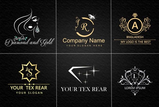 I will make jewelry shop ,luxury,golden and glitter logo design company
