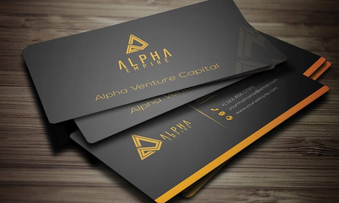 design double sided business card in 24 hours