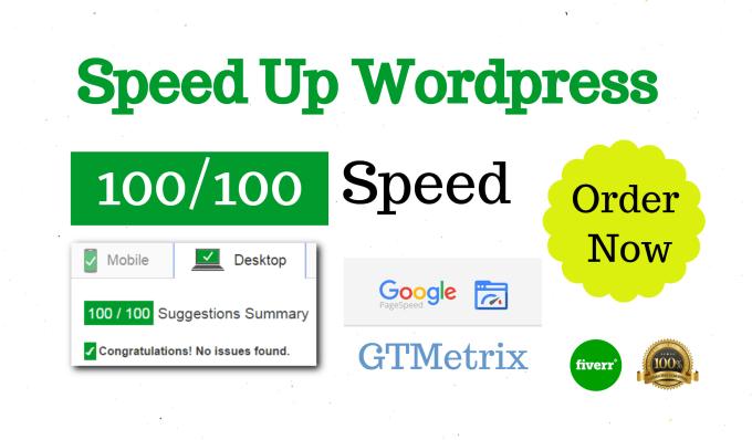 Optimize wordpress speed with pagespeed, gtmetrix by Mamunsa
