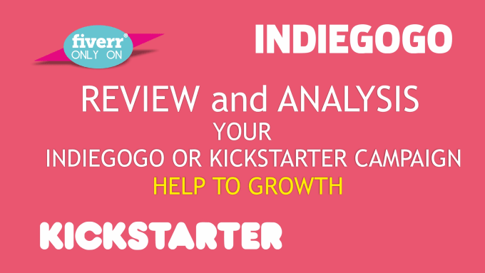 do review and analysis indiegogo or kickstarter campaign