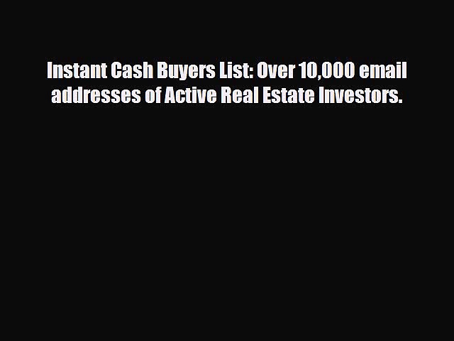 deliver USA real estate investors email list