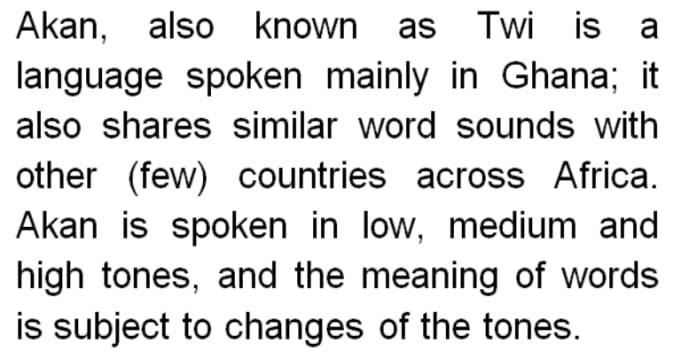 English To Twi Ghana