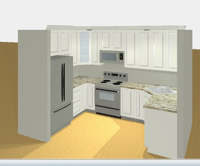 Create 3d kitchen design rendering by Glassgirl5549