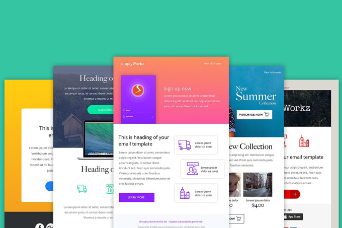Create A Beautiful Newsletter Template By Qubitzz