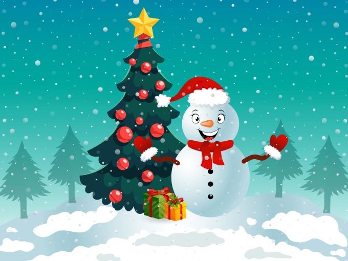 Christmas Illustrations Png.Draw Christmas Illustrations And Cards For You