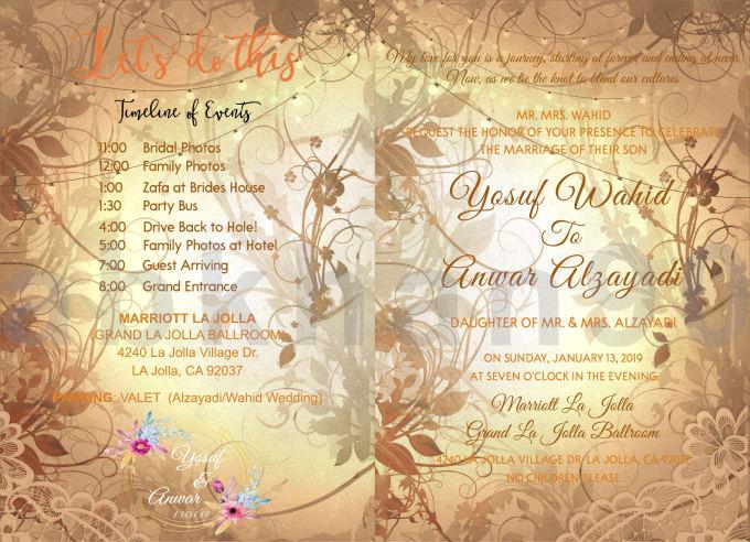 Design Fantastic Wedding Birthday Invitation Card
