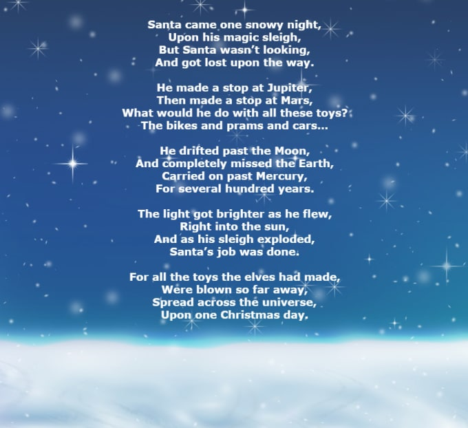 Christmas Poem.Write A Christmas Poem That Rhymes