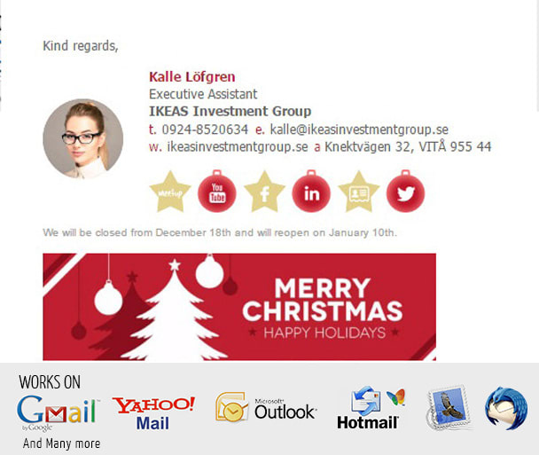 Create A Christmas Themed HTML Email Signature