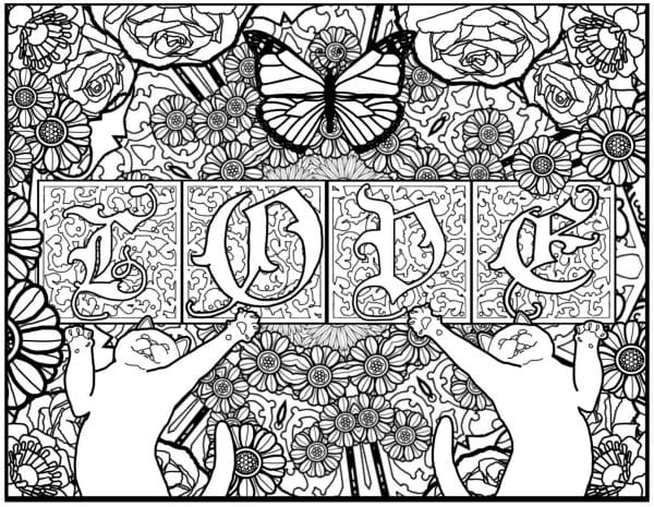 Personalized Monogram Coloring Pages
