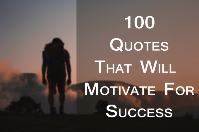 Make 100 motivational quote images with logo or website by