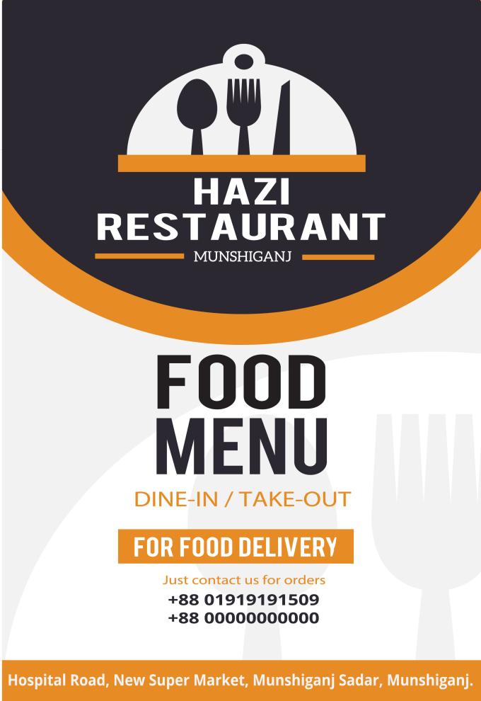 create restaurant menu card creative design for you by mhmunna145