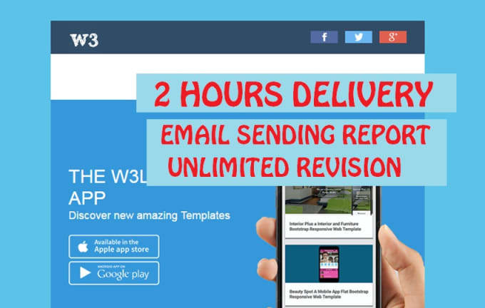 create email template Fiverr