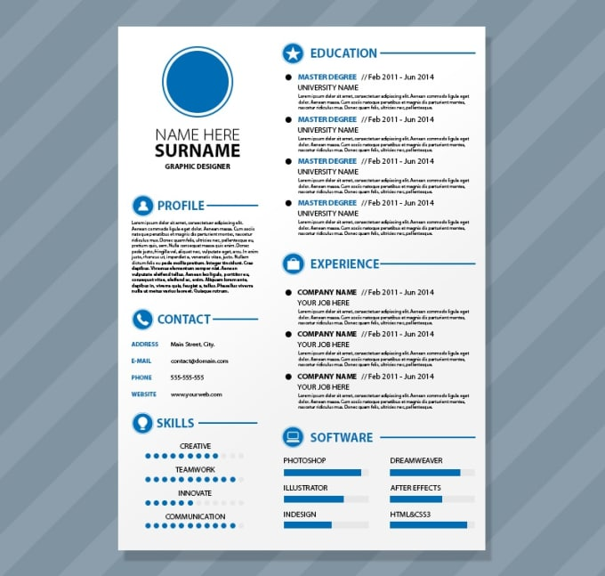 craft you the best resume cv with great design by adilaraziq