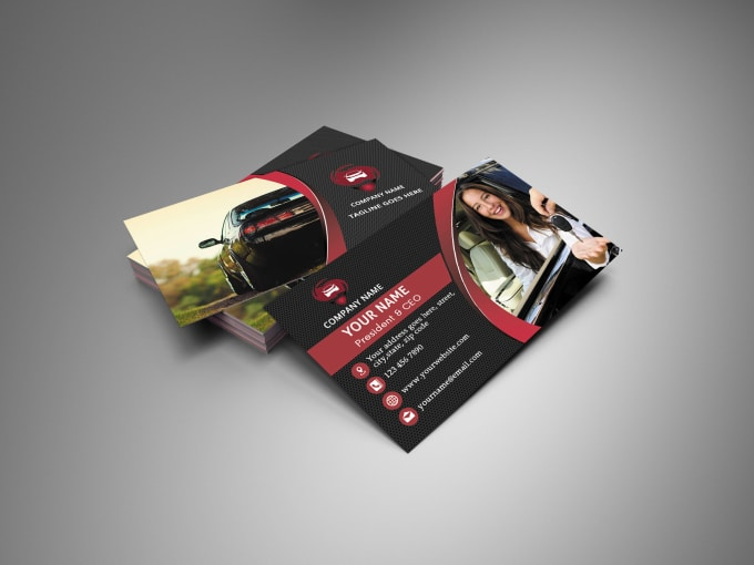 Design stylish rent a car business card by mryounes design stylish rent a car business card colourmoves