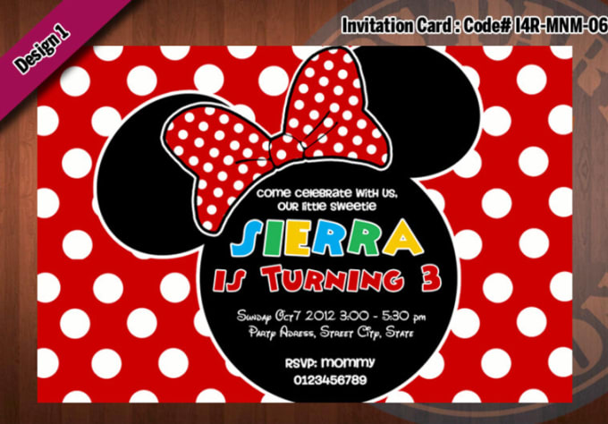 Create A Personalized Printable Minnie Mouse Birthday Invitation