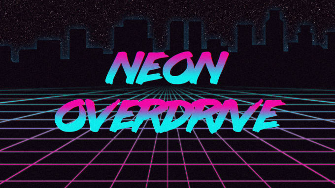 create an 80s retrowave style wallpaper