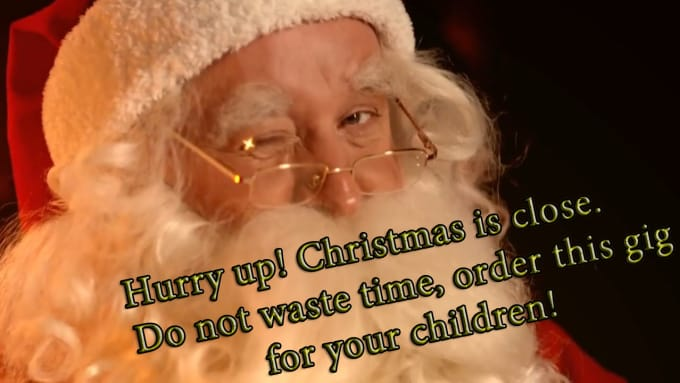 Do amazing interactive santa claus christmas message to kids by ...