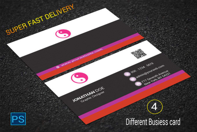 Create 4 different high quality business card design by sagorl create 4 different high quality business card design reheart Images