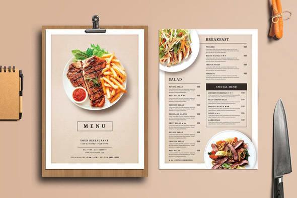 Design Professional Restaurant Takeaway Or Food Menu