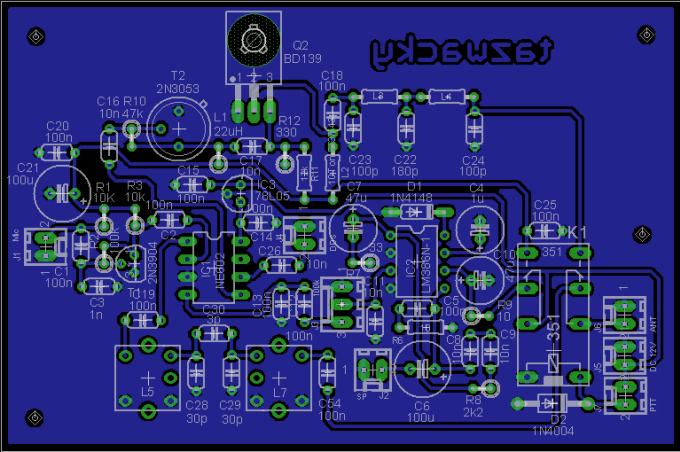 Make you a mini dsb transceiver pcb layout design by Kristiyandono