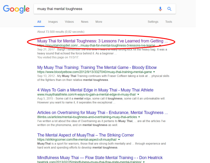 write health and fitness articles that rank on 1st page of google