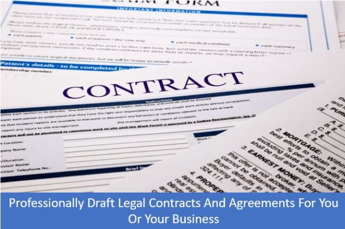 Draft A Legally Binding Contract Or Agreement For Your Business By