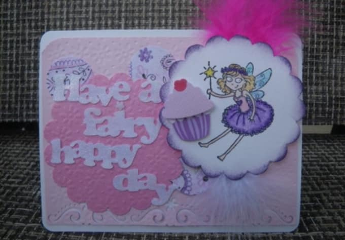 karmassidekick : I will make AND ship an adorable fairy birthday card for  $5 on www fiverr com