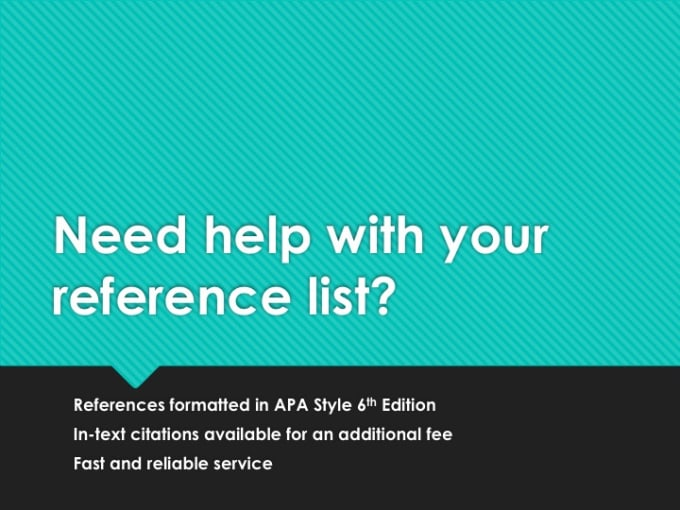 format your references in apa style 6th edition by efflinch42