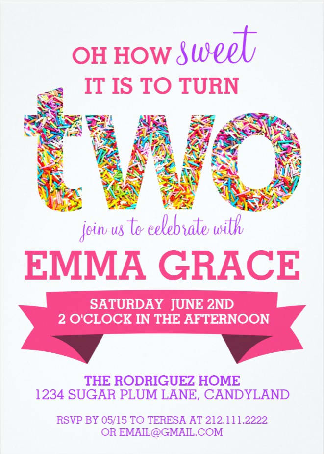 Nonaparker I Will Create A 2nd Birthday Party Invitation For 5 On Fiverr