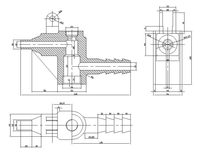 draw autocad 2d mechanical drawings by naveenpatirana
