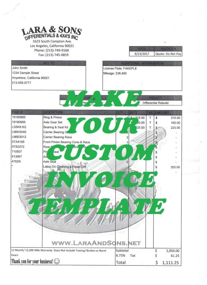 Create A Custom Invoice Template Using Microsoft Excel By Eliaslns - Create custom invoice