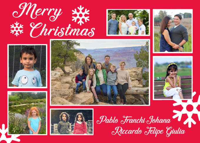 I Will Design Christmas Collage Birthday Card Using Family Photos