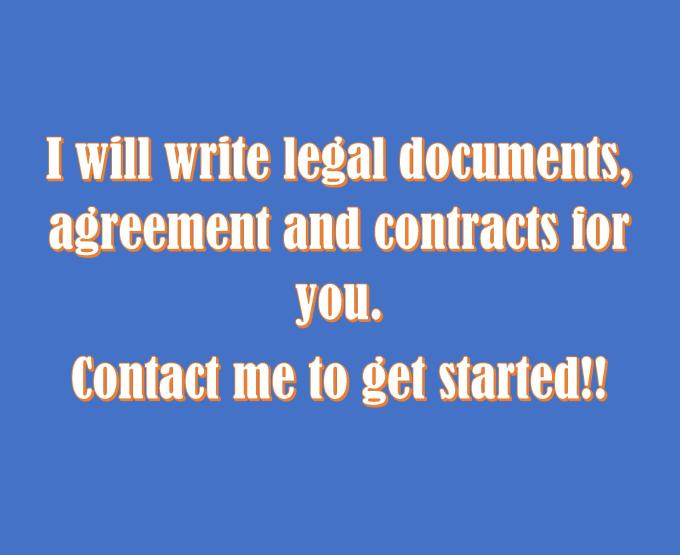 Write Legal Document Writingcontract By Gurulaura