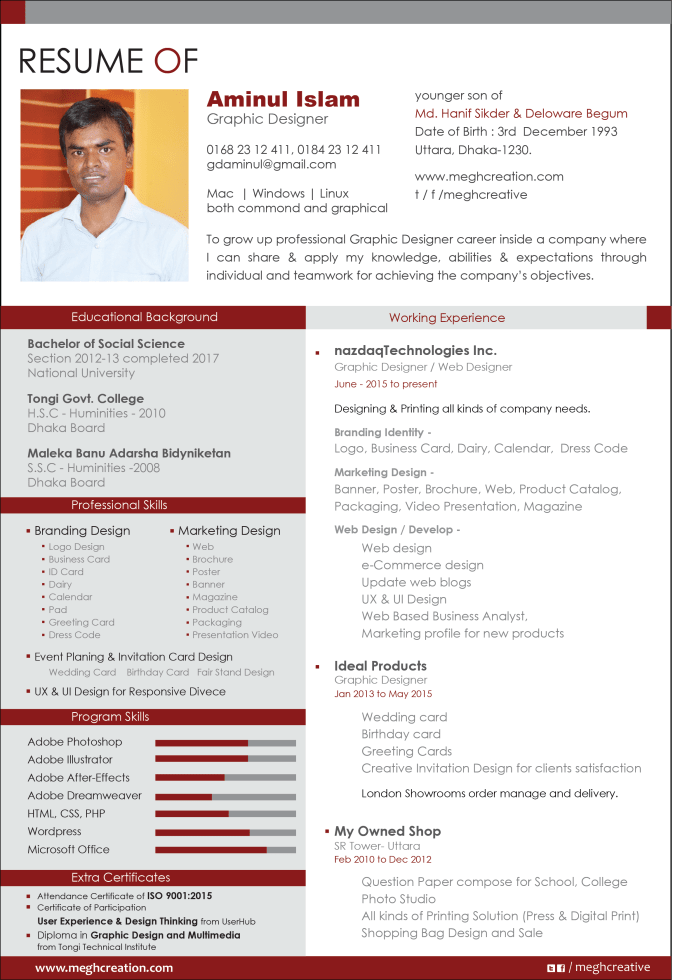 rewrite cv  resume design and resume edit by gdmegh17