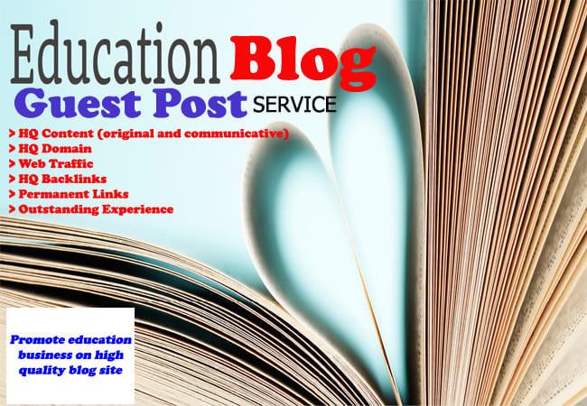 do guest post on education blog permanent dofollow da40 pa30