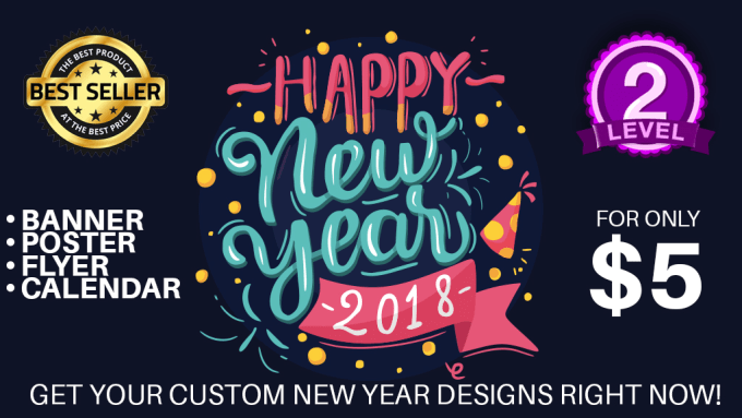 make an amazing custom new year sale banner