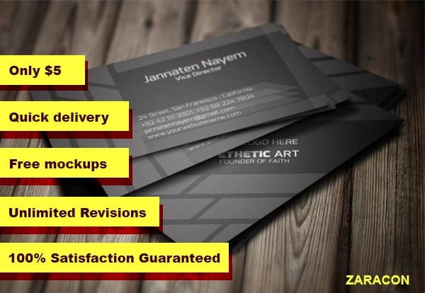 Design professional business card by zaracon design professional business card reheart Choice Image