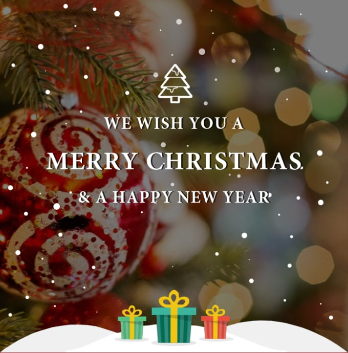 build email template of merry christmas by arshad53